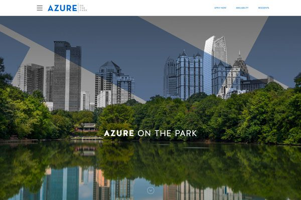 Azure Home page