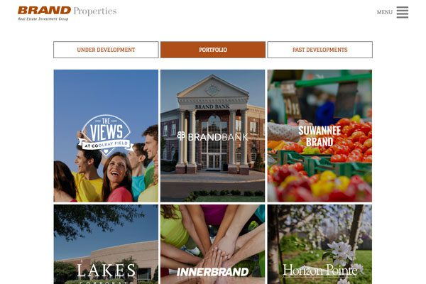 Brand Properties Developments Type Page